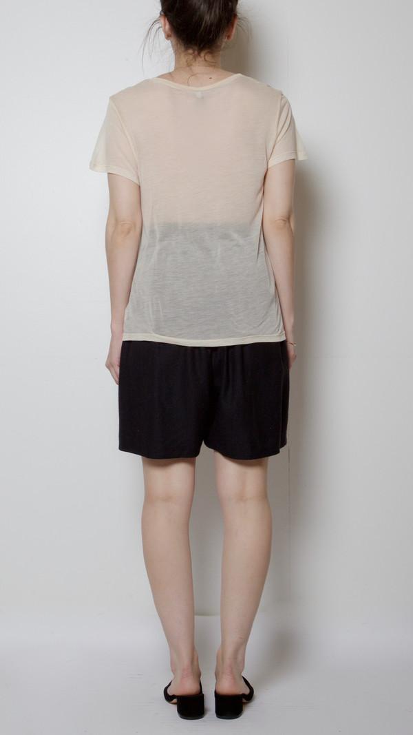 Baserange Cupro Tee Shirt in Nude 1