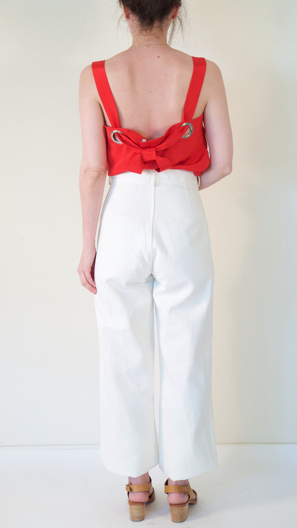 Caron Callahan Stewart Pant in White Denim