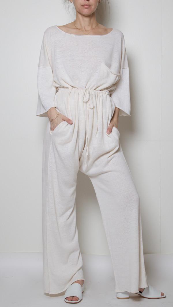 Lauren Manoogian Pocket T in Perla