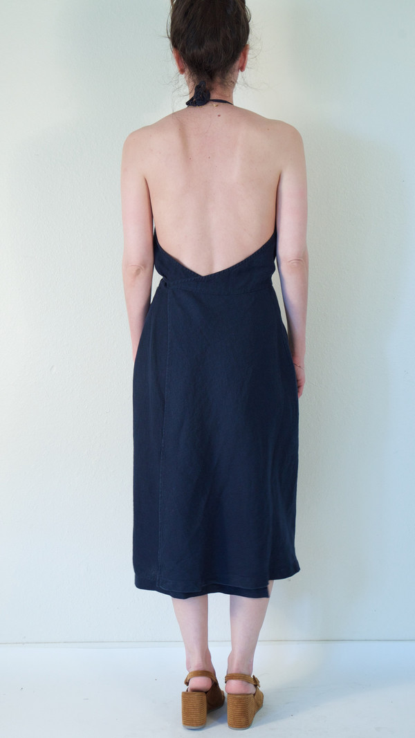 Rachel Comey Driscoll Dress in Navy Linen