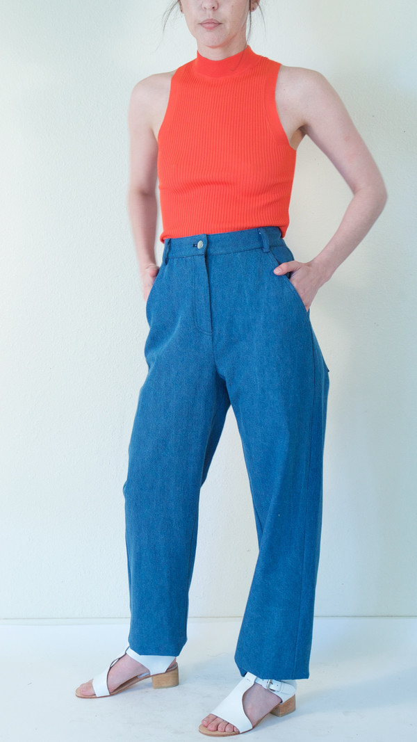 Suzanne Rae Straight Leg Jeans in Blue