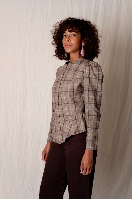 Town Clothes ROSA BLOUSE - SYCAMORE PLAID