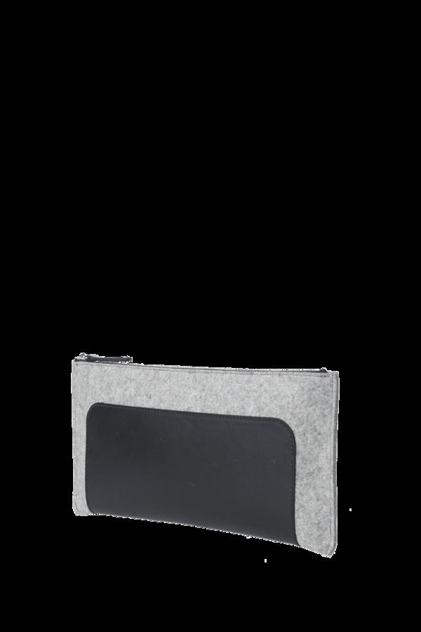 Andie clutch Granite/black