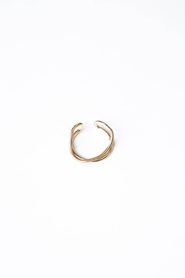 Jorge Morales Gold Plated Brass Ring