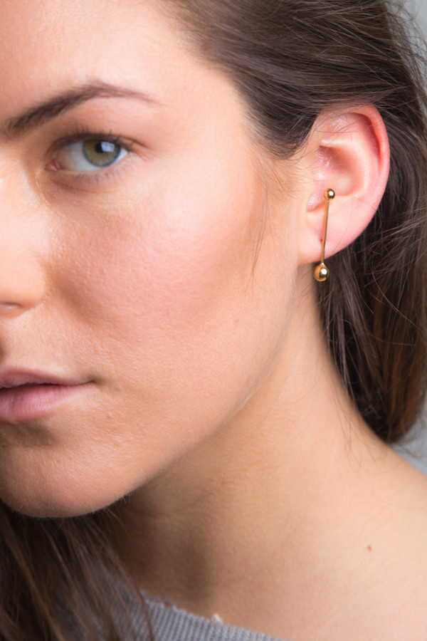 Gold Sunray Earring Single