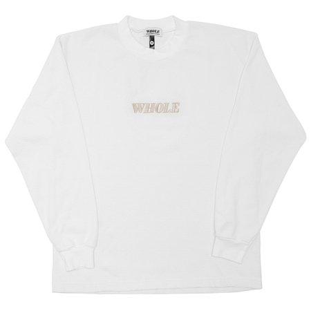 UNISEX WHOLE THERMAL LOGO LONG SLEEVE - white