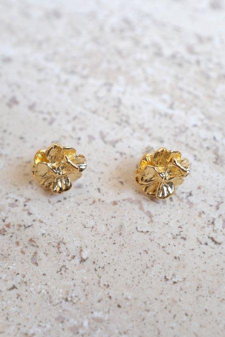 Leigh Miller Poppy Stud Earrings - Gold
