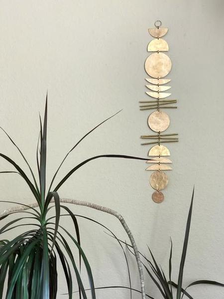 Vida + Luz Earth Angel Hammered Hanging - Brass