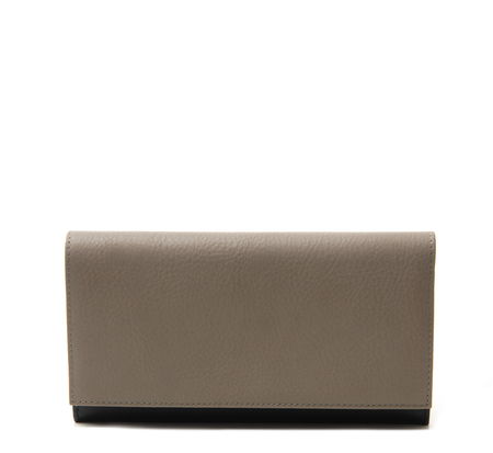 Grey Cream 10 Wallet by Tsatsas