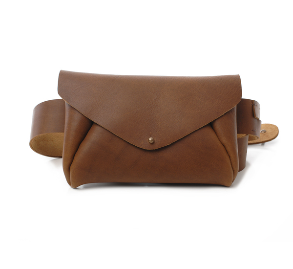 Brown Belt Bag  by Petite Maison Christiane