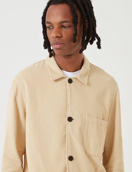 Portuguese Flannel Labura Cord Workwear Jacket - Cream Beige