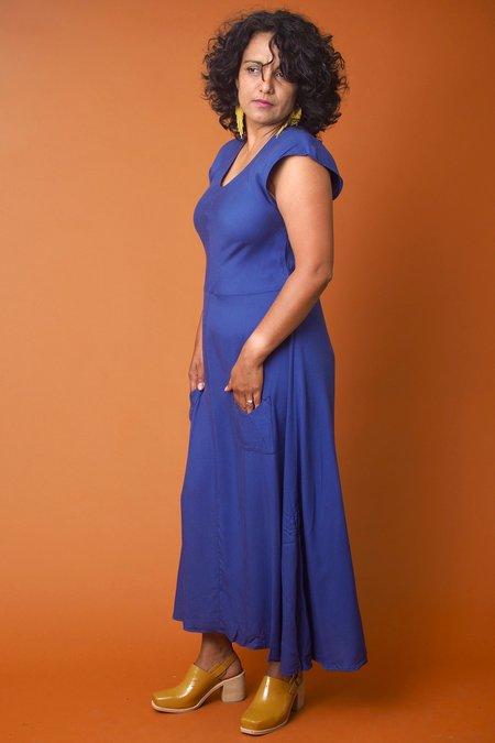 Field Day Bias Dress - Blue