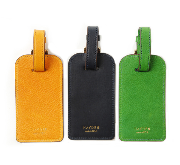 Hayden Leather Leather Luggage Tag