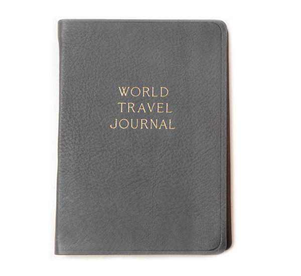 Grey World Travel Journal by Hayden Leather