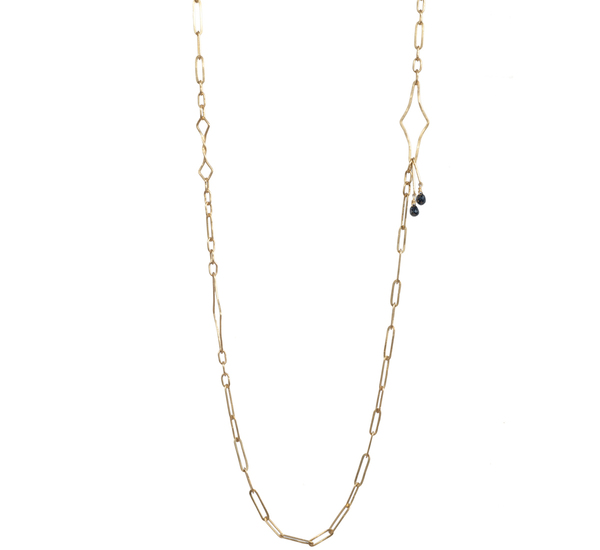 Rosanne Pugliese 22K Modern Link Chain With Black Diamond
