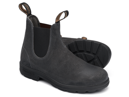 Blundstone 1910 Leather Suede Pull-On Boots - Steel Grey