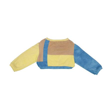 Kids Petit Mioche Organic Merino Wool Color Block Sweater