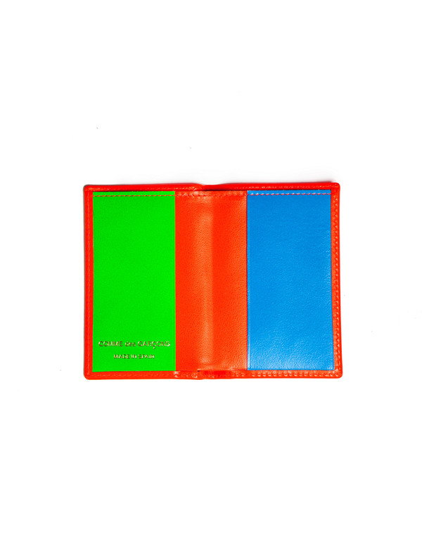 Comme des Garcons Super Fluo Card Wallet - Orange