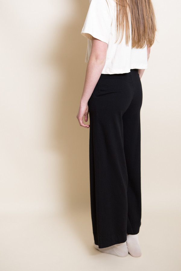 Pansy Drawstring Pants / Black