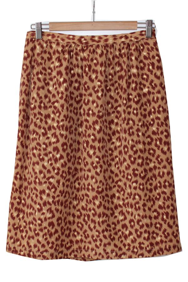 Des Petits Hauts Leopard Skirt
