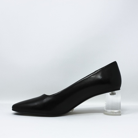 Miista Adina Nappa Leather Heels - Black