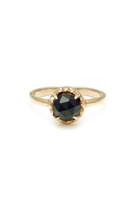 Angela Monaco Matrix Halo Ring - Gold/Onyx