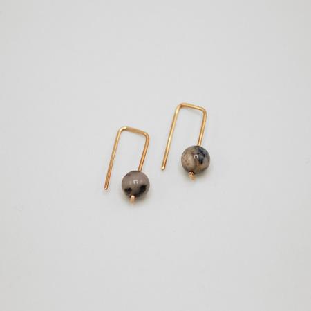 Susumi Studio Moss Opal Staple Earrings - 14K Rose Gold