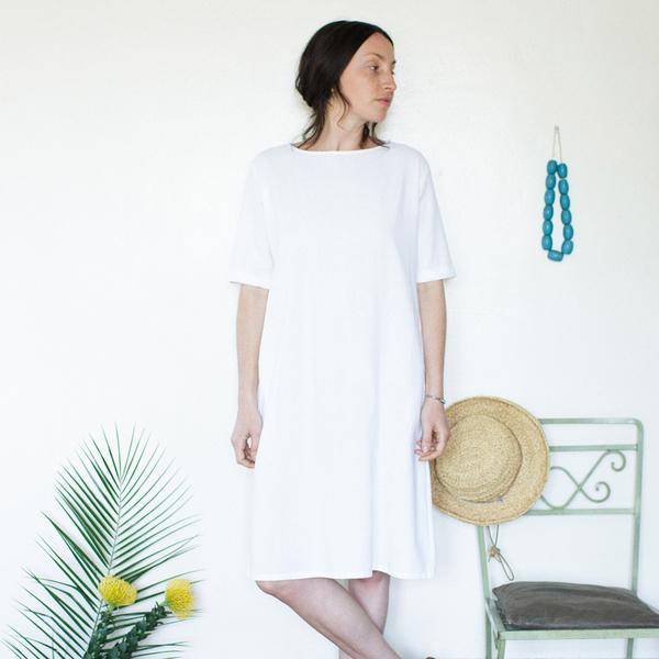 Me & Arrow Tall Dress - White