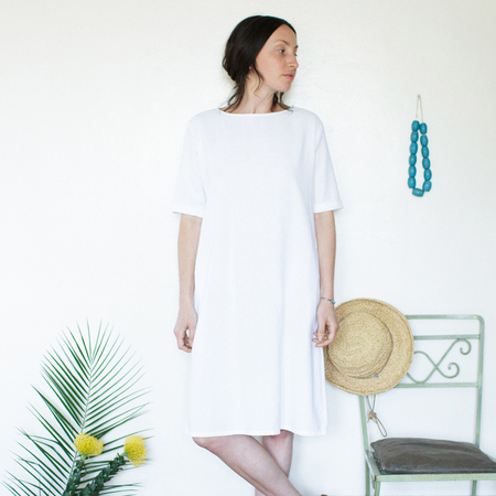 Me & Arrow Tall Dress - White