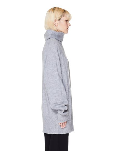 Y's Wool Oversized Sweater - Grey