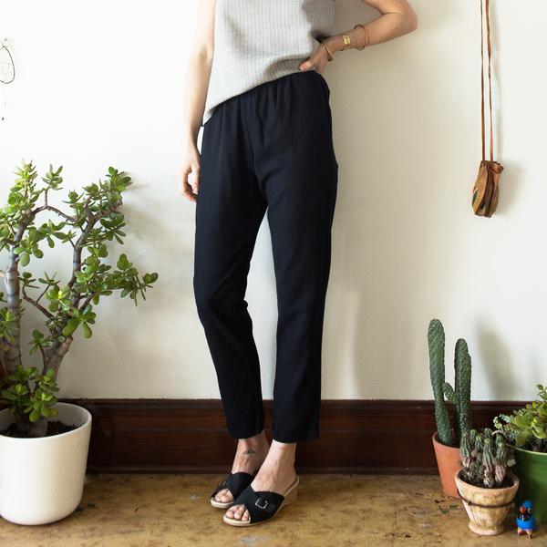 Unknown Cuff Pants<br> Black