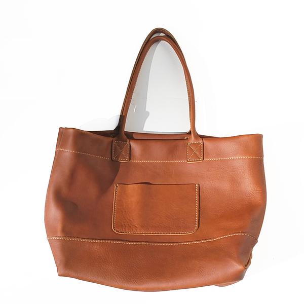 Unknown Leather Tote<br>Oiled Leather Brown<BR>UNISEX