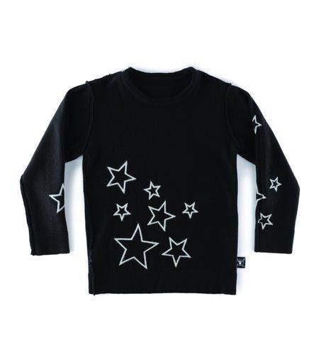 Kids Nununu Knit Star Sweater - Black