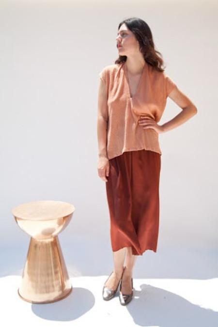Miranda Bennett In-Stock: Everyday Top, Cotton Gauze in Noon