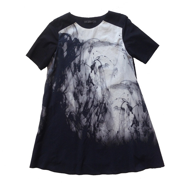 Eve Gravel Richelieu and Onyx Black Ink Dress