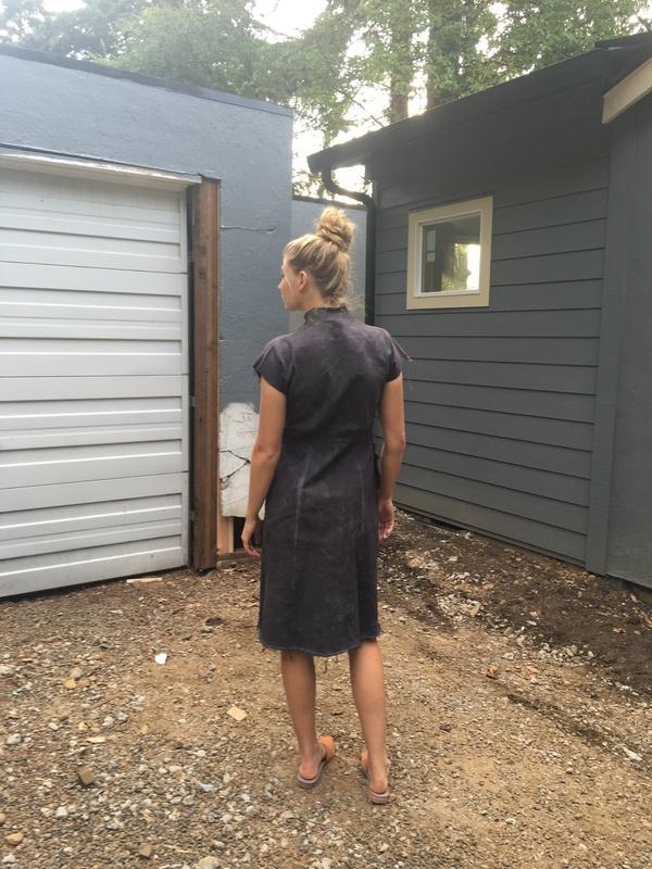 Alexa Stark  grey uniform dress