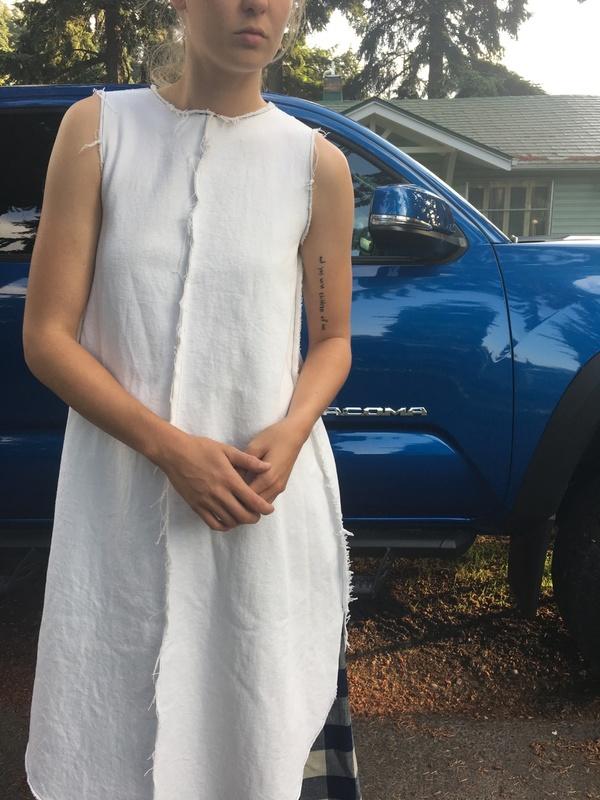 Alexa Stark black pen dress