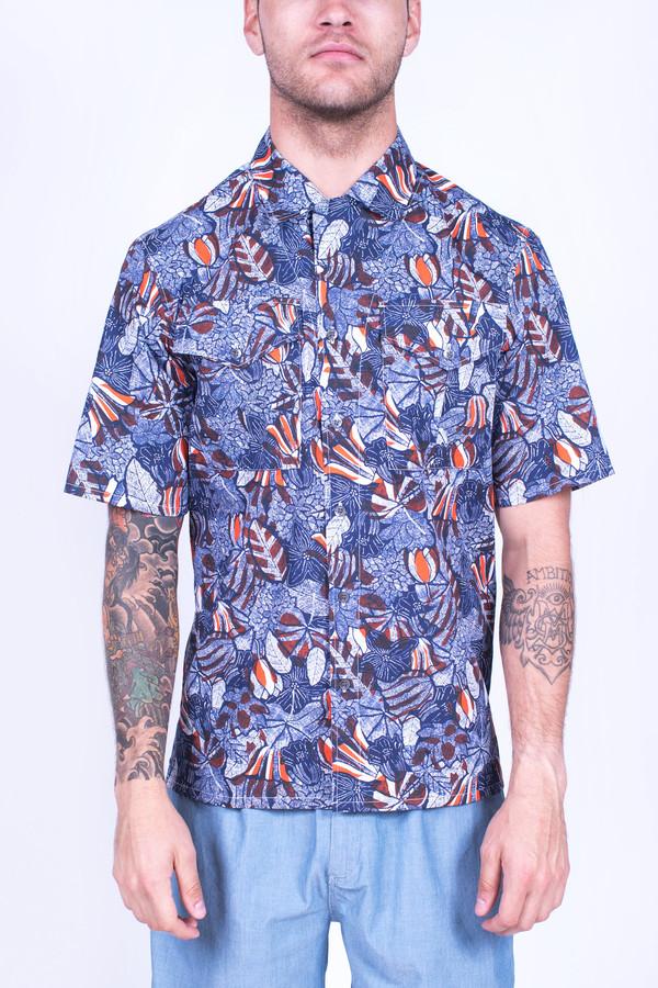 Men's Maison Kitsune Hibiscus Safari Shirt