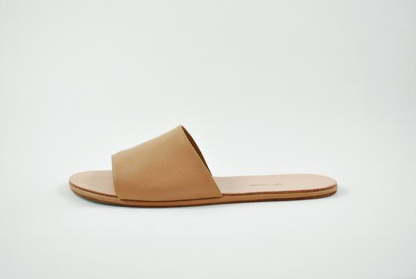 The Palatines Caelum slide sandal - tan leather