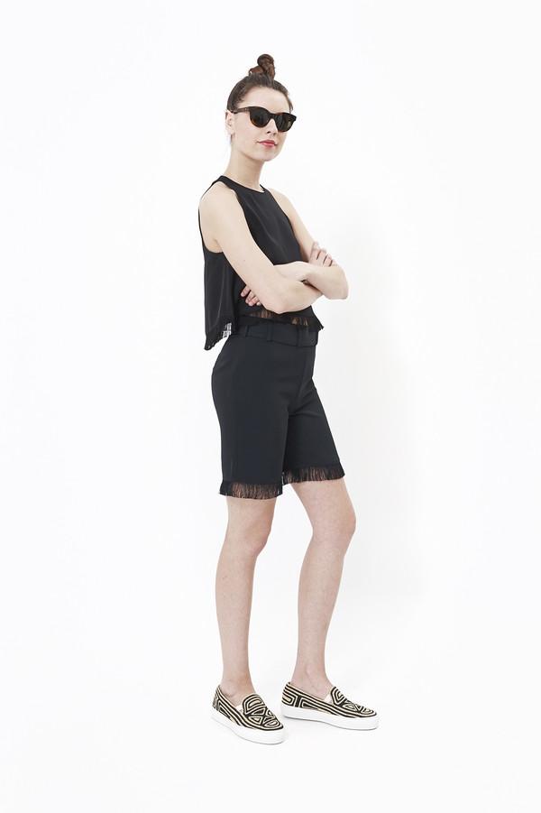 Nanushka Kori Fringed Shorts