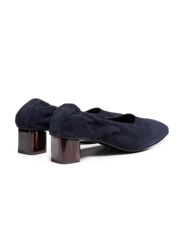 Robert Clergerie Womens Poket Glove Heel - Navy Suede
