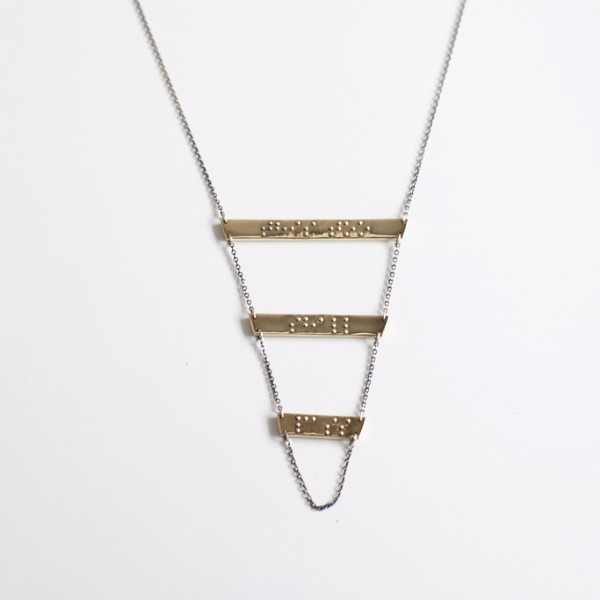 """Jodie Necklace — """"this too shall pass"""""""