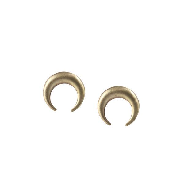 Emmy Trinh Jewelry Lovisa Moon Earrings in Bronze