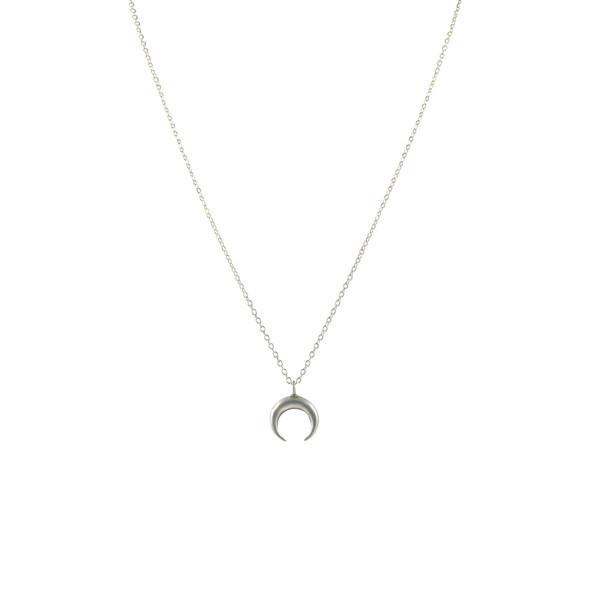 Emmy Trinh Jewlery Lovisa Moon Pendant- Silver