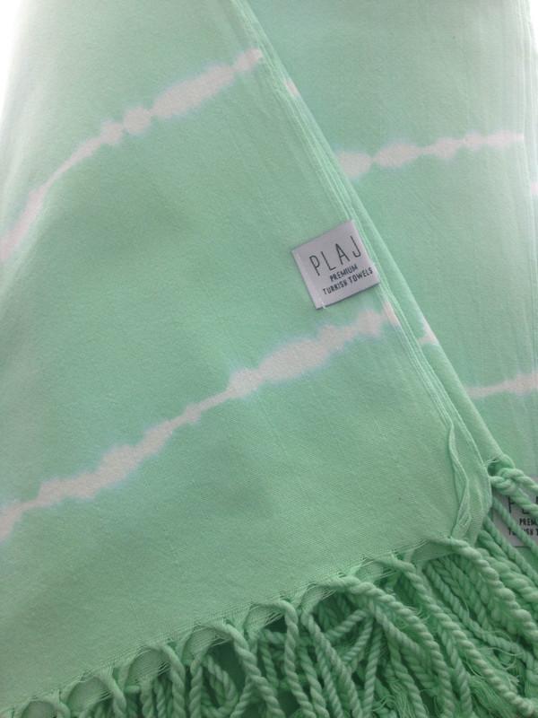 Plaj Pender Towel- Tye Dye Mint Green