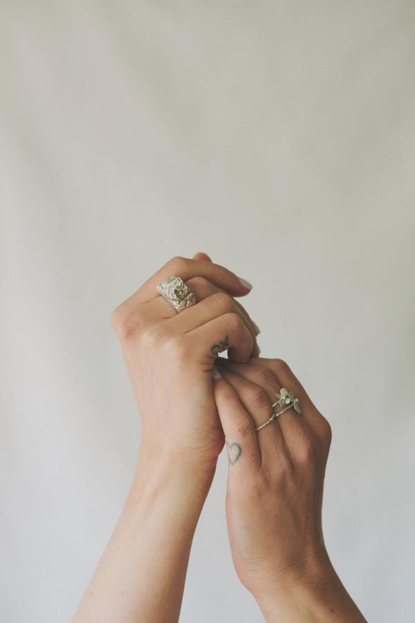Terrain ring -silver -