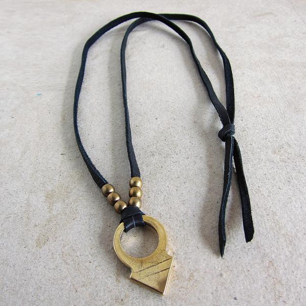 Marisa Mason Kybo leather necklace