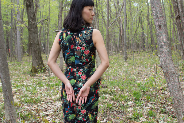 Darling Twiggy Fitted Dress (Black)