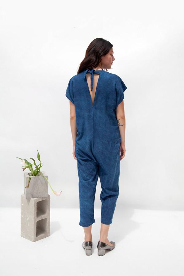 Miranda Bennett Everyday Jumpsuit - Silk Noil in Indigo