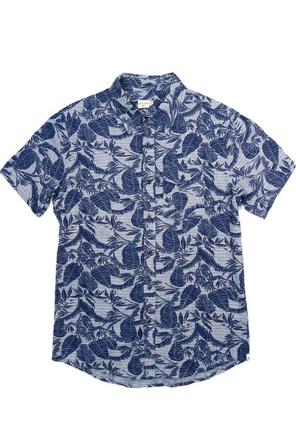 Men's Bridge & Burn Thomas Shirt in Leaf Print